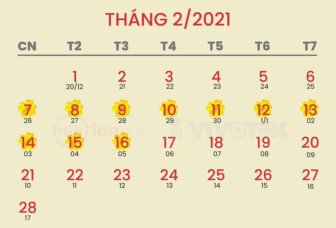 Lich nghi tet 2021 up host